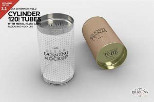 Clear/Opaque Tube Packaging Mockup