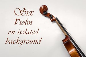 Six Violin on isolated background