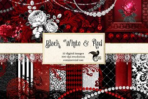 Black White and Red Graphics