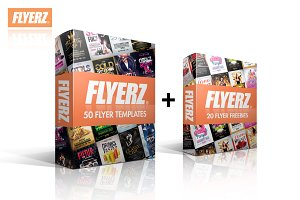 50 FLYERS BUNDLE + 10 FREEBIES