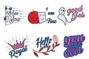 Cute Cartoon Sticker Set