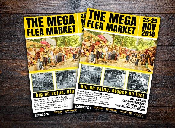 flea market flyer flyer templates creative market