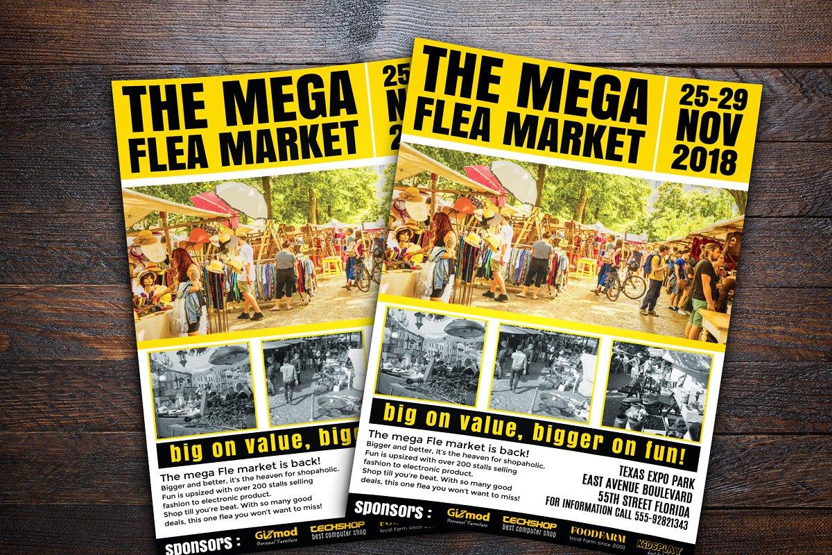 Flea Market Flyer on