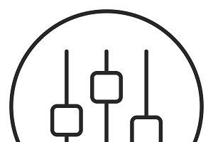 Control stroke icon, logo