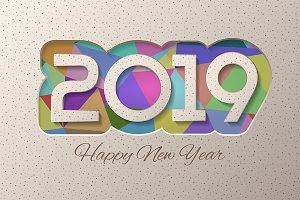 Multicolor 2019 card design