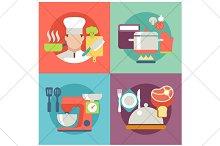 cooking flat illustration
