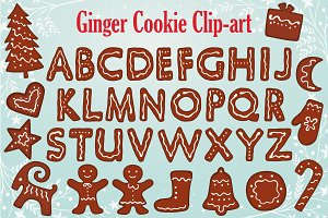 Gingerbread Alphabet Clipart