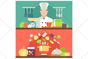 cooking flat illustration