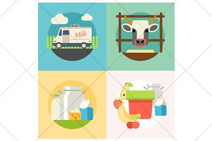 milk flat illustration