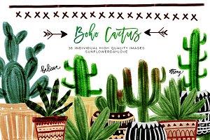 Boho Cactus Clipart
