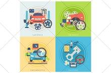 car service flat illustration