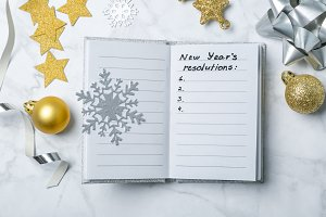 New year resolutions concept -
