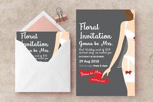 Bridal Shower Psd Invite Templates