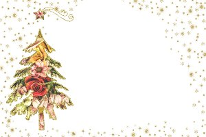 Christmas cards white background.