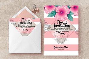 Floral Invites Psd Templates