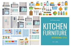 Set of kitchen appliances &futniture