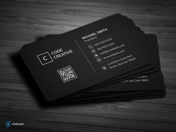 Modern Dark Pixels Business Cards Business Card Templates