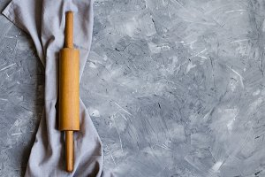 Baking concept on grey background