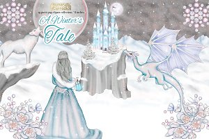 Winter's tale clipart collection