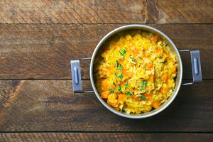 Pumpkin Risotto with Thyme and Parme