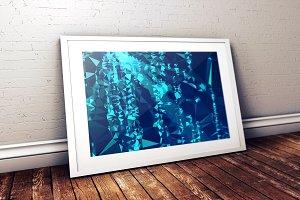 Ultra HQ Background - blue matrix