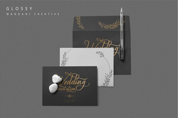 Best Glossy - Modern Calligraphy Font Vector
