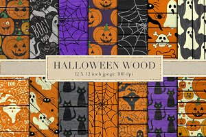 Halloween wood backgrounds