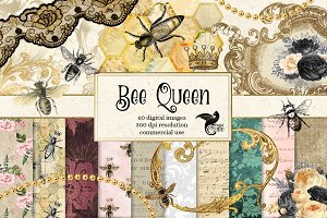 Queen Bee Digital Scrapbook Kit