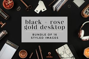 Black + Rose Gold Desktop Bundle