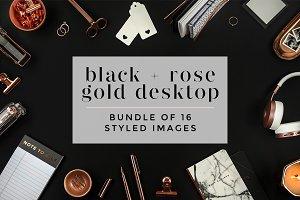 Black + Rose Gold Desktop Bundle