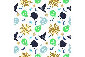 Vector Halloween seamless pattern