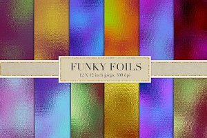 Multicolored foil backgrounds