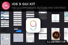 iOS9 iPhone GUI Template for Ai