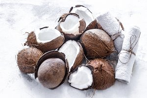 Coconuts tropical fruit