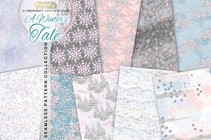 Winter fairy tale pattern collection