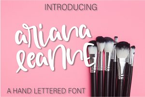 Ariana Leanne - A Hand Lettered Font