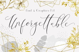 Unforgettable Font and Graphics Kit