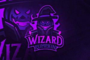 Wizard Pumpkin - Mascot&Esports Logo