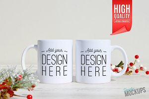 11oz Mug Mockup - 2 Sided