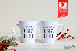 12oz Latte Mug Template - 2 Sided