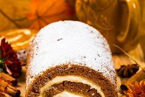 Pumpkin Cake with Cream Cheese