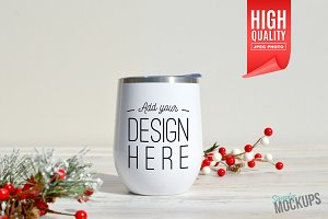 12oz Wine Tumbler Mockup - 1 Sided