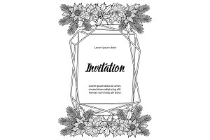 Winter Invitation Coloring Page with