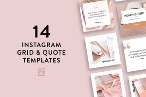 Instagram Feed Templates | Photoshop