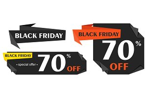 Black Friday advertising price tag