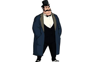 Old style businessman