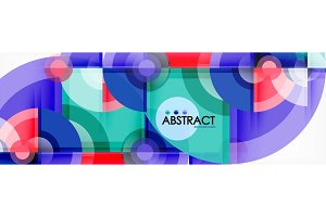 Abstract background bright circles