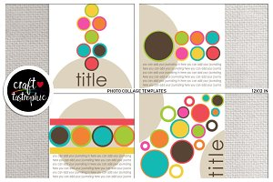 Photo Collage: Framed Circles