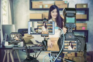 Professional set of camera with smar