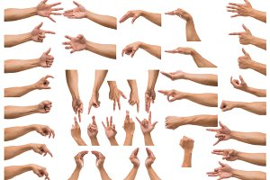 Various gesture of Men hand